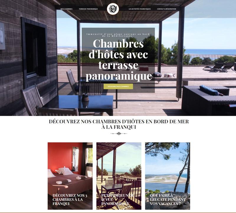 page d'accueil du site chambreslafranqui.com