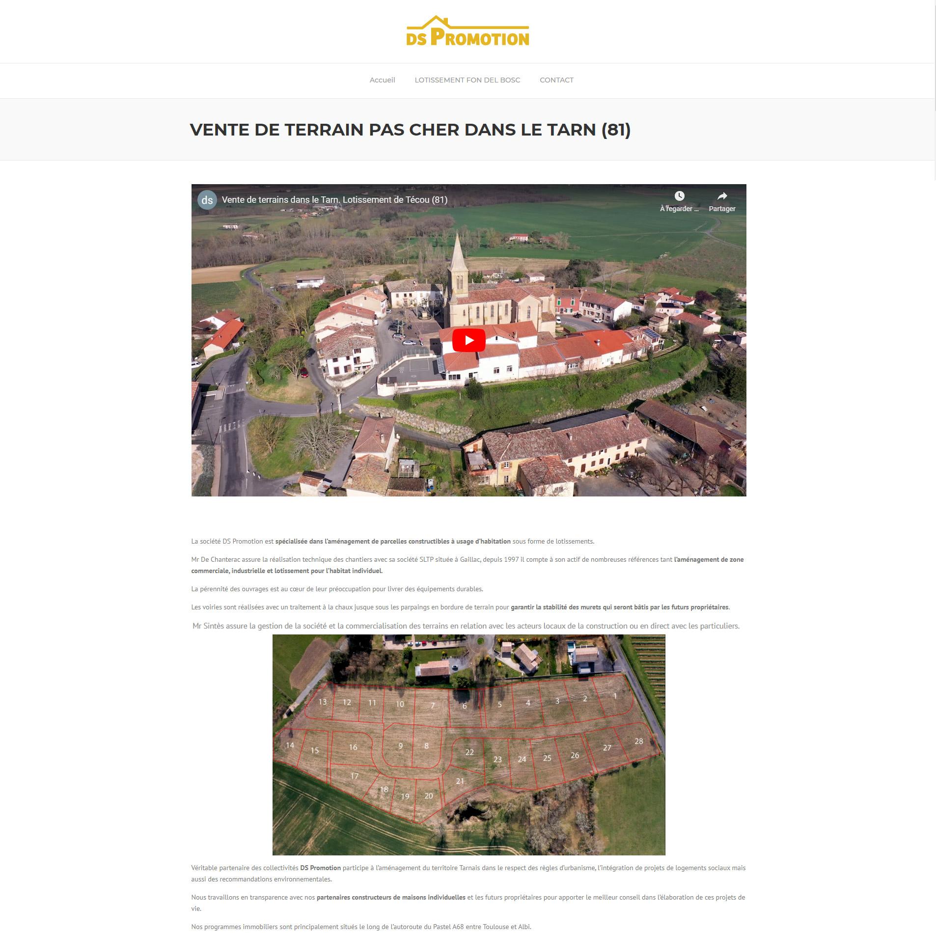 Développement de terrain-pas-cher.fr